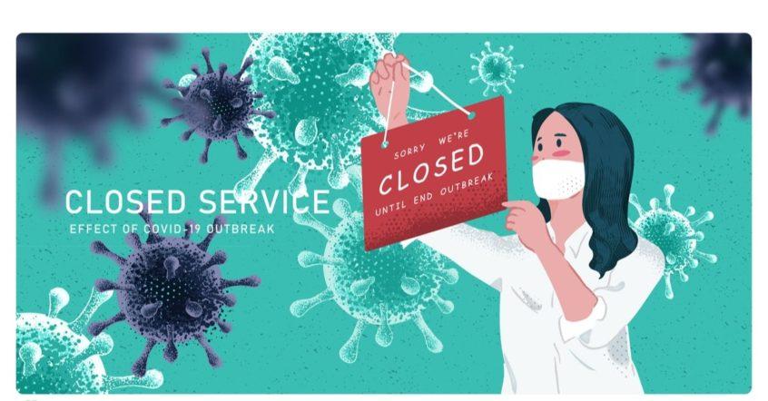 Symbolbild für schließende Läden während einer Pandemie