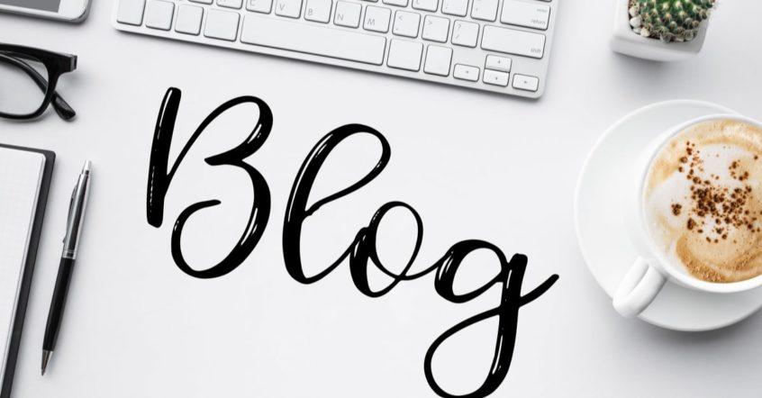 """Das stilisierte Wort """"Blog"""""""
