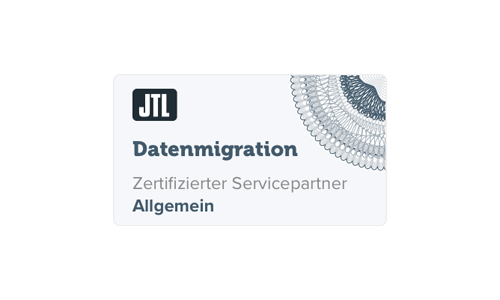 Logo JTL-Software zertifizierter JTL-Servicepartner Datenmigration knowmates