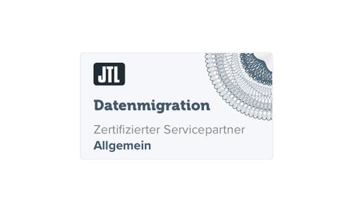 Logo JTL-Software zertifizierter JTL-Servicepartner Datenmigration knowmates